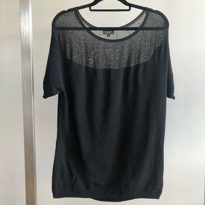ESCADA Black Short-Sleeve Viscose Knit Top